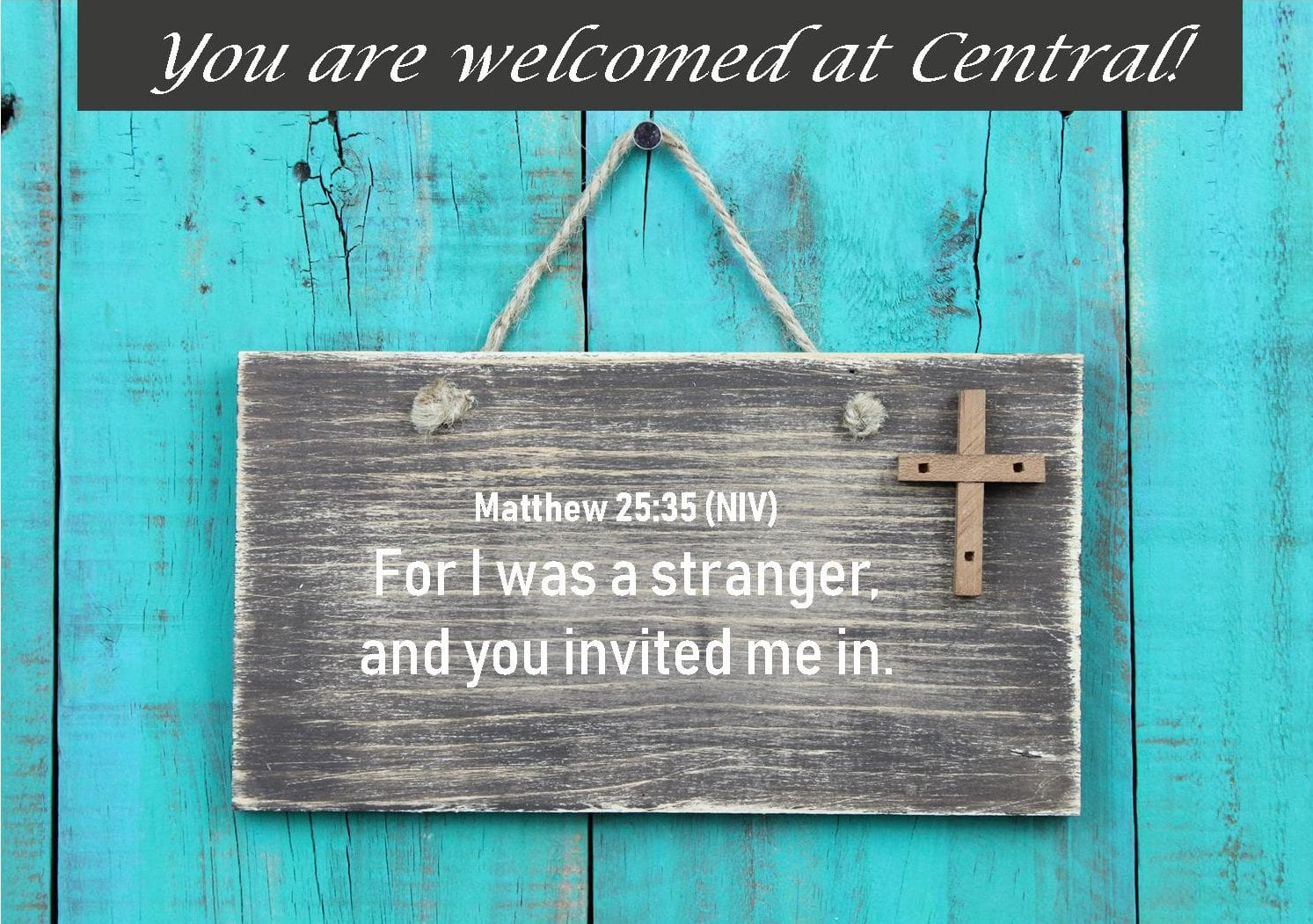 CUMC Website New Members and Visitors Welcome Sign