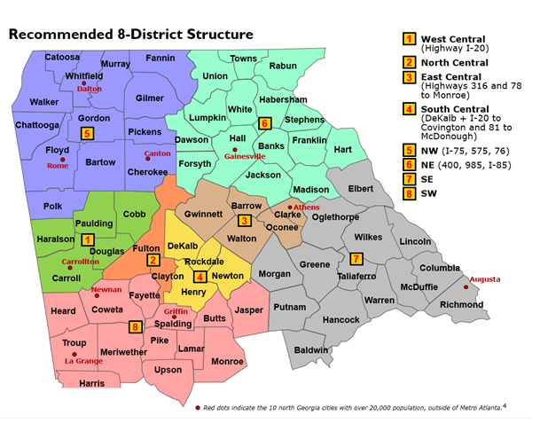 NGUMC Recommended Eight-District Structure