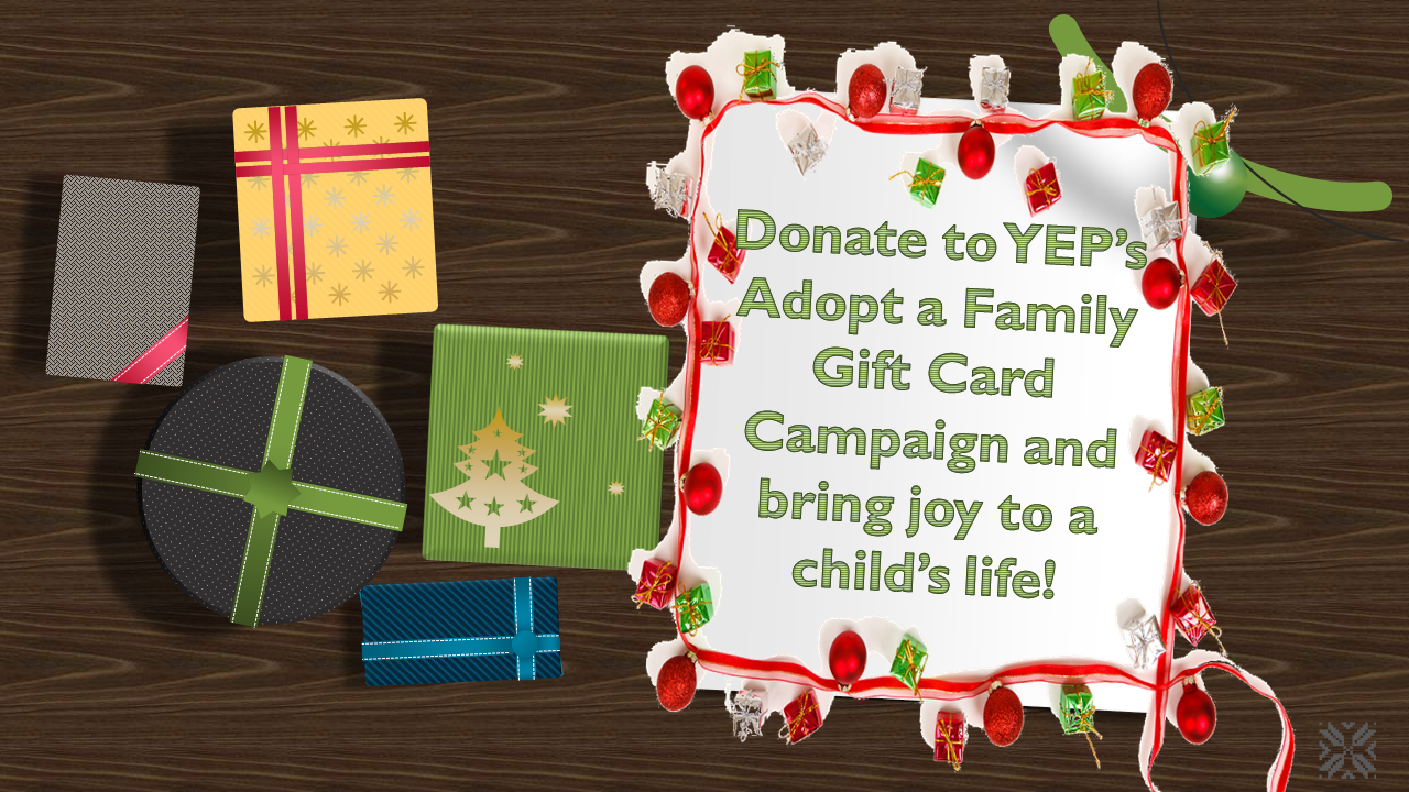 YEP Adopt a Family Gift Card Campaign