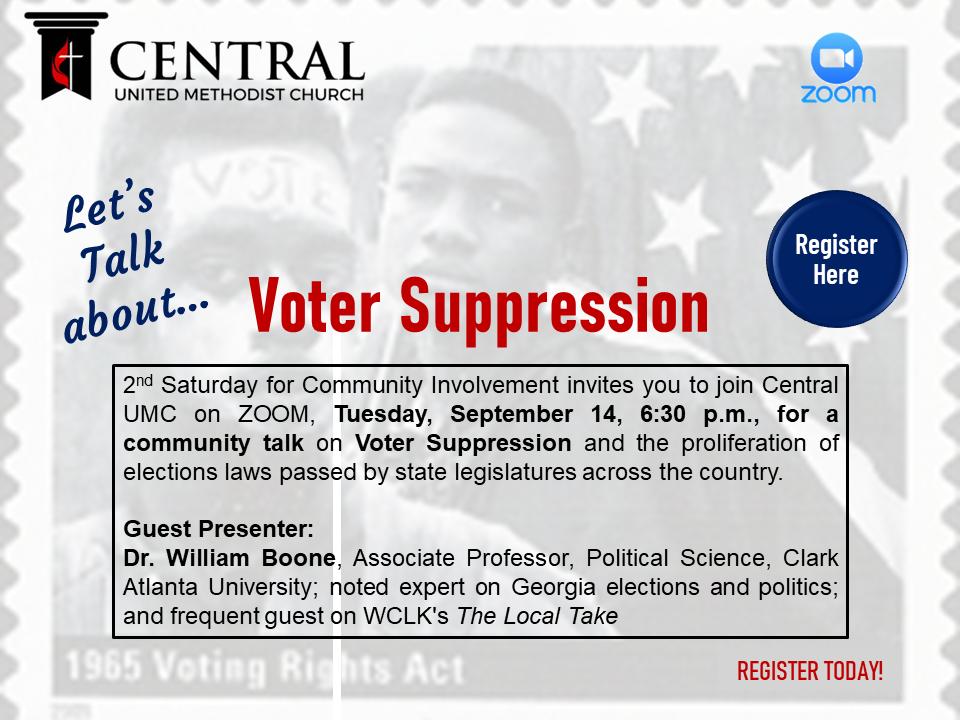 2nd Saturday Voter Suppression September 14 2021 rev