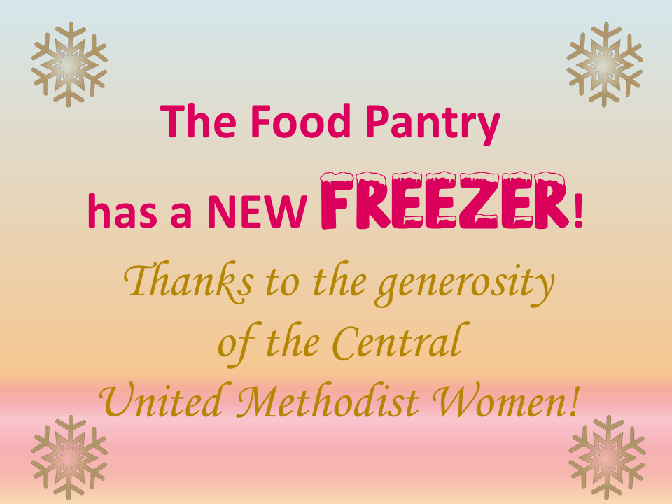Food Pantry Freezer from Central UMW s2