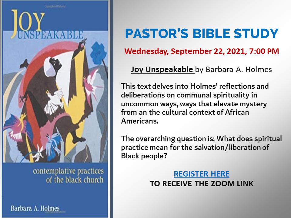 Pastor Ross's Bible Study - 9-22-21 short