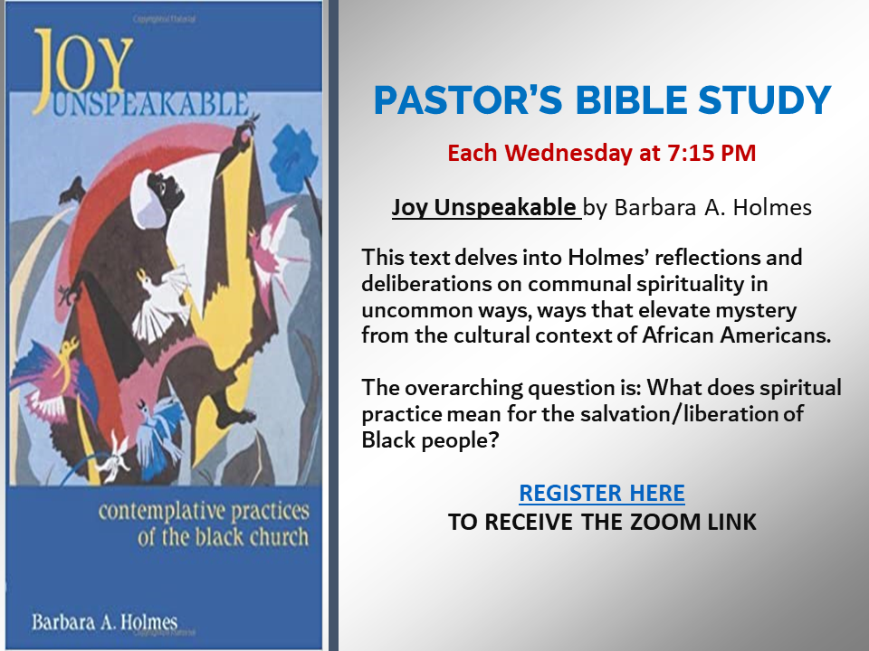 Pastor Ross's Bible Study - 9-29-21 new time